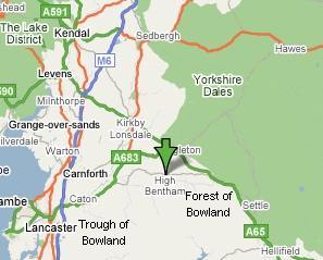 Google Maps - High Bentham Location